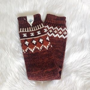 Free People NWT Knitted Leg Warmers